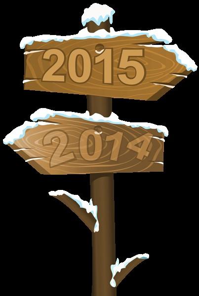 Transparent 2014 2015 Sign